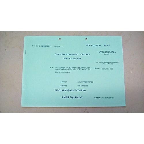CES CATALOGUE VRC353 Z INTO SAXON (FCC)
